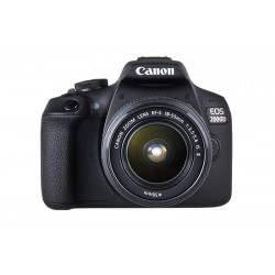 Canon EOS 2000D 18.0MP Digital SLR Camera- Black